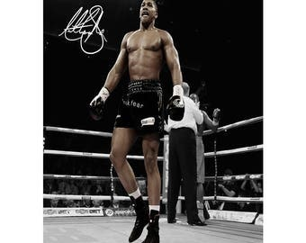 Anthony Joshua pre signed photo print poster - 12x8 inches (30cm x 20cm) - Superb quality