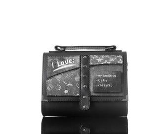 The Love List Crossbody bag  Handmade, Eco Leather Bag, Personalized,  Handbag, Print
