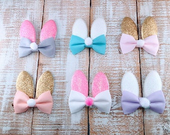 Easter Bunny Hair Clips, Easter Bunny Ears, Baby Hair Clip, First Easter Bunny Ears, Bow Hair Clip, Easter Headband