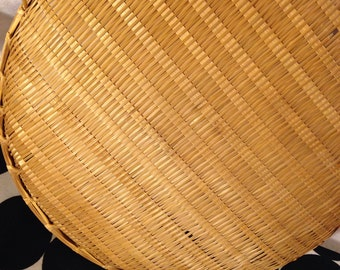 Flat Wicker Basket