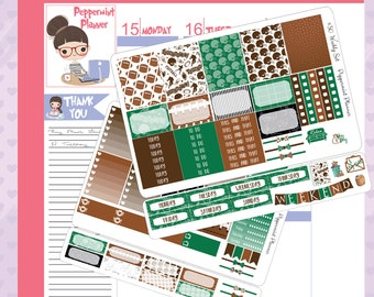E Weekly Planner Stickers, Football Weekly Stickers {#30}