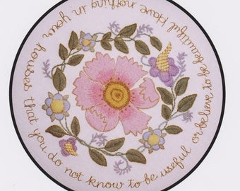 Compton Garland- a crewel embroidery kit