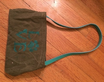 Recycled Military Duffel Bag Converted To Small Purse
