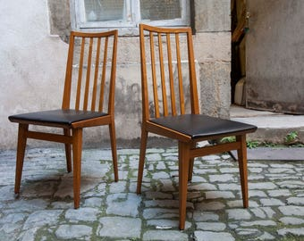 Pair of chairs Scandinavian leather nine