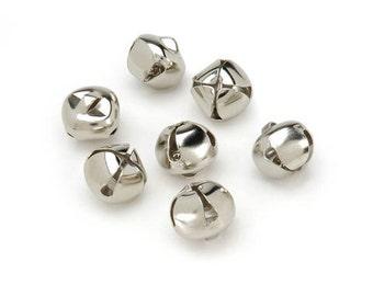Darcie Jingle Bells - Silver - 1/2 inch - 48 pieces