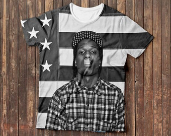 Asap Rocky full print t-shirt, Free shipping