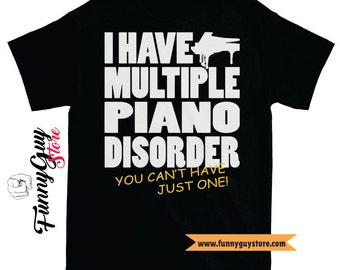 Music Lover Gifts | Pianist Gift | Musical T-shirt | Piano Disorder | Music Teacher Gift | Piano Teacher | Gift For Musician | Gift For Him