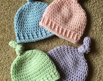 Newborn Knot Hat, Newborn Crochet Hat, Newborn Photoshoot, Baby Hat, Newborn Crochet Outfit, Baby Shower Gift, Newborn Hat