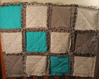 Arrow rag quit - baby boy rag quilt - arrow nursery - crib rag quilt - rag quilt - baby shower quilt - new baby gift - toddler quilt,