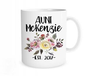 Aunt Mug, Pregnancy Reveal, Pregnancy Announcement, Gift for Aunt, Aunt Gift, Auntie Mug, Baby Announcement Sister, New Aunt Gift