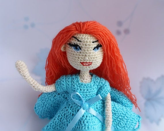 Crochet Amigurumi Doll Body : Crochet doll Amigurumi doll Present for girl Handmade doll