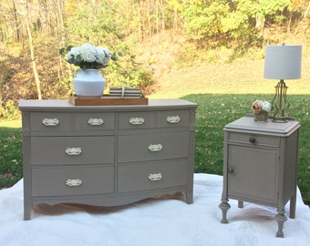 SOLD -- Shabby Chic Antique Bedroom Set
