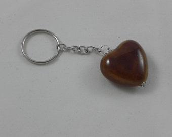 Porcelain heart keychain