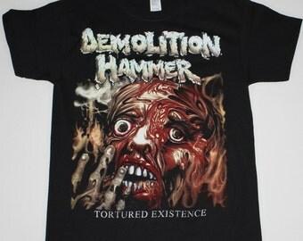 Demolition Hammer Tortured Existence black t shirt