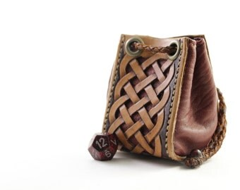 Celtic Knot Leather Pouch