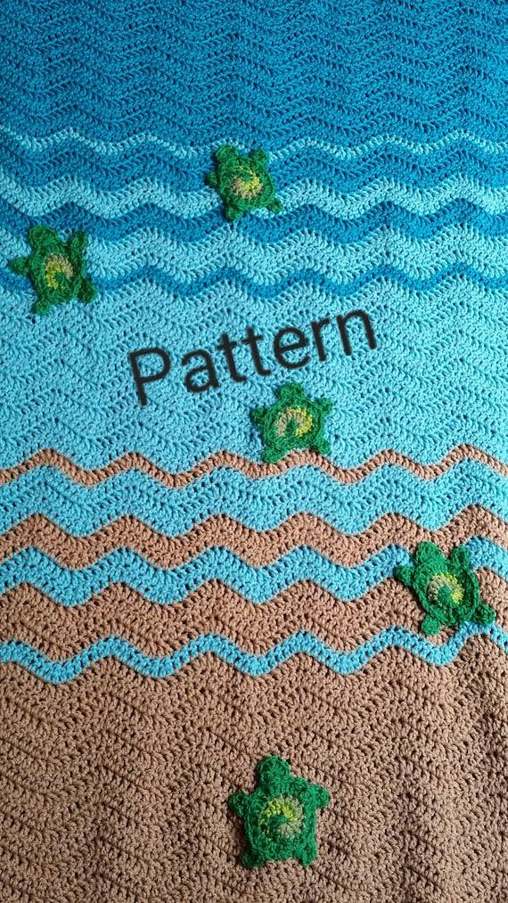 Sea Turtle Baby Blanket Crochet Pattern Personalized Baby