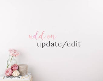 Add on Logo Update, Logo Addition, Business Logo, Photography Logos and Watermarks