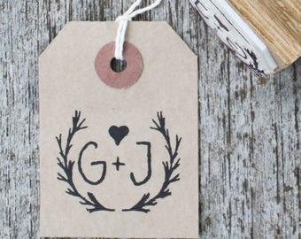 custom wedding initials stamp