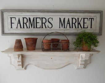 FARMERS MARKET SIGN - vintage style signs, hand made signs,  hand painted signs , distressed signs, farmhouse signs, wood signs