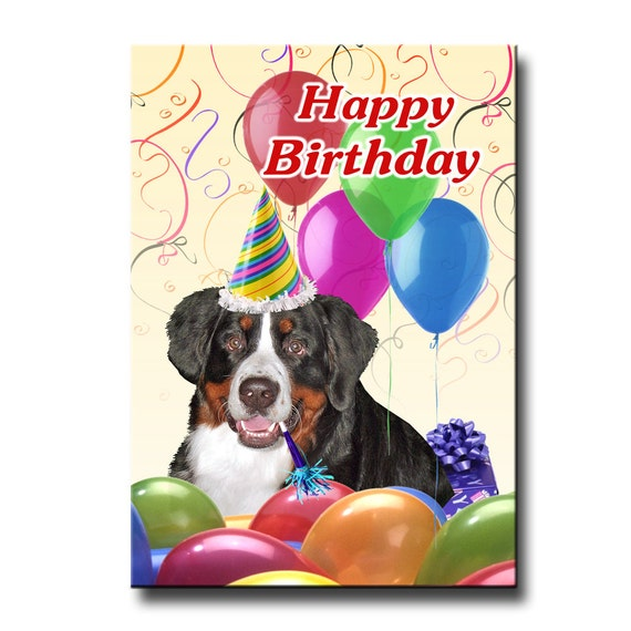 Bernese Mountain Dog Happy Birthday Fridge Magnet