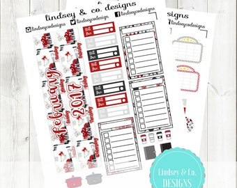 February Printable Monthly Kit for the BIG Happy Planner - Valentines Day Themed