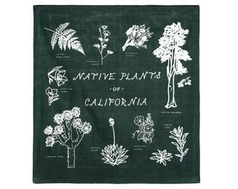 Native Plants of California Bandana
