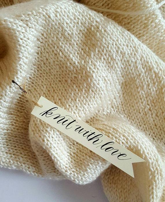 Knitting Gift Tags : Knitting gift tags per set crochet