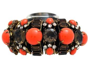 Iradj Moini Cuff Bracelet, Roya SOHO, Bracelet with Smokey Quartz Gemstones