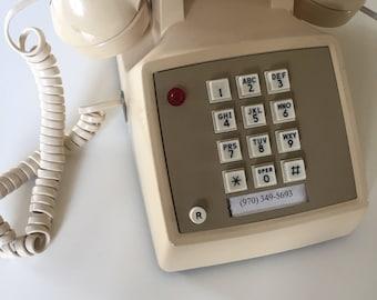 Vintage Push Button Landline  Telephone