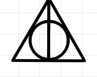 Deathly Hallows Decal - Harry Potter Decal - Car Decal - Window Decal - Permanent Decal