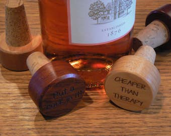 Personalized Wooden Wine Corks