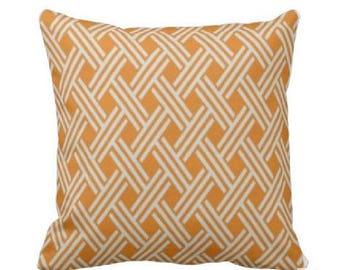 Outdoor Throw Pillow Cover -Outdoor Decorative Pillow - Orange Outdoor Pillow -  Outdoor Tangerine Pillow - Tangerine Throw Pillow