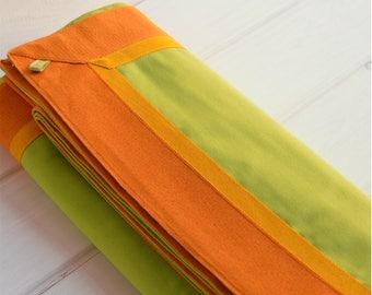 Green tablecloth, acid colors, 100% cotton, cotton, cotton, green tablecloth, square, rectangular