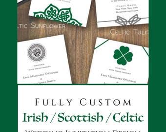 celtic wedding invitations   etsy, Wedding invitations