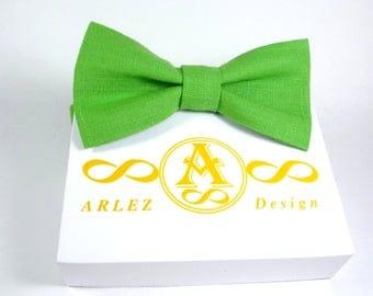 Green Bow Tie, mens Green bow tie, boys Green bow tie, baby Green bow tie, toddler Green bow tie, Green bow tie, pre-tied Bow Tie