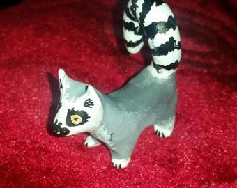 Polymer Clay Totem Talisman Animal Figure Lemur.