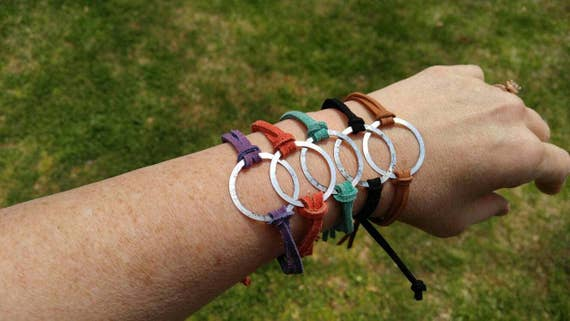 Eternity bracelets/Suede/genuine leather cord/leather bracelet/stackable bracelets