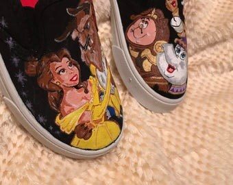 Beauty and the Beast shoes (Garanimals/Faded Glory, Vans, or Converse)