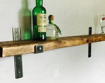 Industrial Maple Shelf