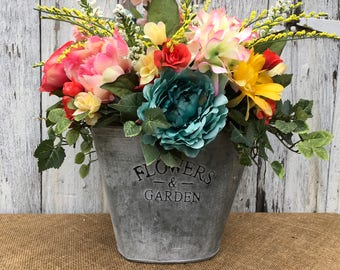 A Beautiful Spring through Summer Centerpiece, Mother's Day Floral Arrangement, Easter Centerpiece, Floral Arrangement, Floral Centerpiece