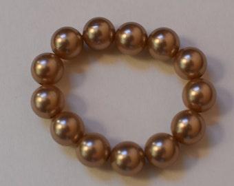 Gold Fresh Water Pearls Bracelet
