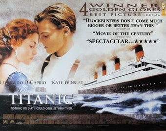 Vintage Titanic Movie Poster A3/A2/A1 Print