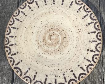 Handmade Speckled Plate