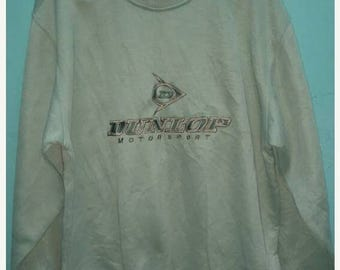 SALE 10 % Vintage 90's Dunlop Motorsport Sweatshirt Size L