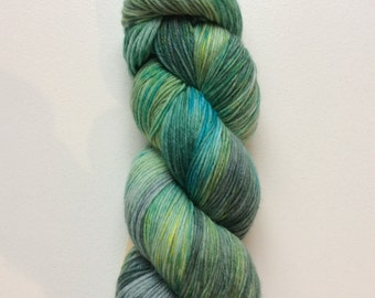 Brackish - hand dyed worsted weight yarn - 100% superwash merino
