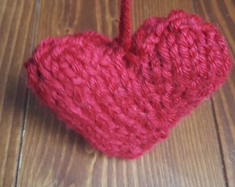 Wool heart decoration