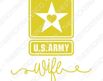 Army Wife Vinyl Decal SVG