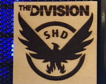 Tom Clancy's The Division Logo Wooden Magnet
