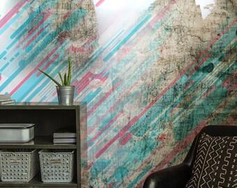 texture wallpaper | etsy - Sala Da Pranzo Contemporanea Con Strutturata Beige Grasscloth Carta Da Parati
