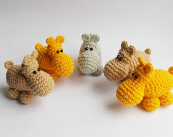 crochet pattern amigurumi / hippo amigurumi / easy crocher pattern / beginner pattern / amigurumi hippo / crochet pattern hippo /